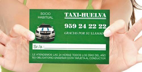 tarjeta socio habitual de taxi huelva no cobramos el servicio desde la parada al punto de recogida del cliente