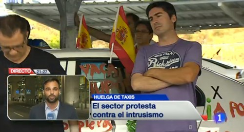 Taxi Huelva se suma a la protesta nacional contra UBER